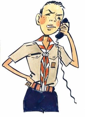 Scout au telephone