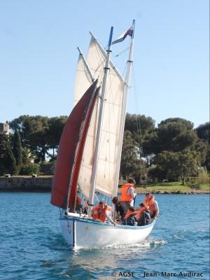 Equipage lors du rallye marin