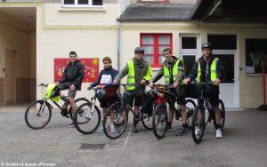 Départ de L'Ecureuil pour son raid à vélo